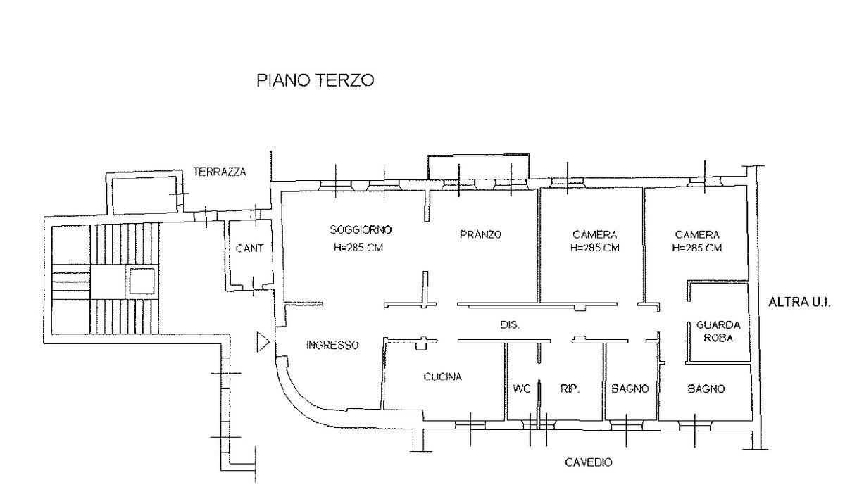 Piantina - Appartamento ristrutturato in centro storico