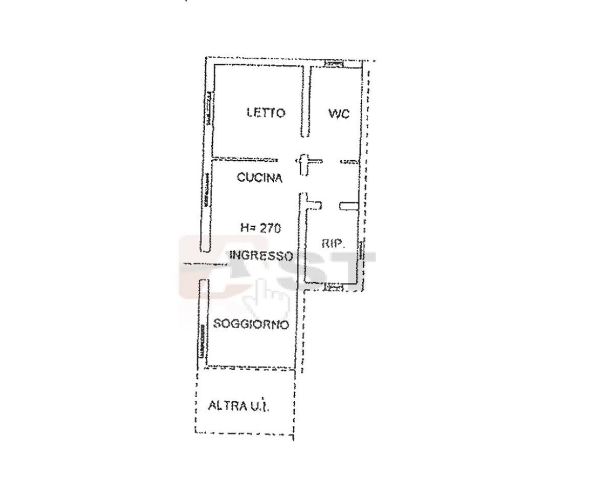 Piantina - capannone commerciale in vendita ad Oppeano