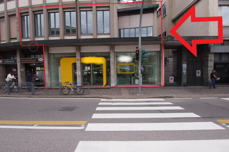 Negozio e uffici con ampia visibilità in affitto a Vicenza